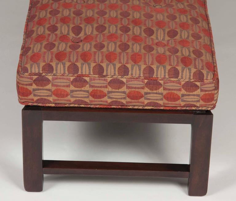 Mid-Century Modern Edward Wormley Mahogany Bench for Dunbar For Sale