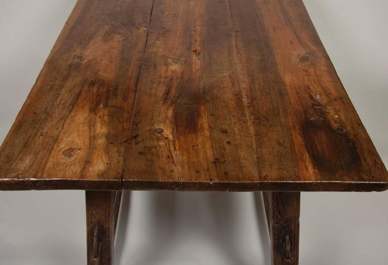 Continental Oak Trestle Table For Sale 5