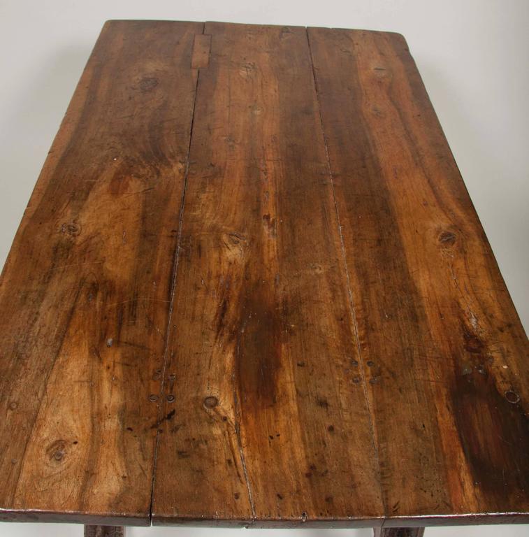 Continental Oak Trestle Table For Sale 6