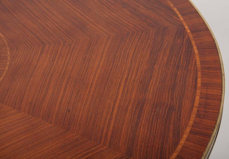 Magnets English Regency Mahogany Center Table For Sale