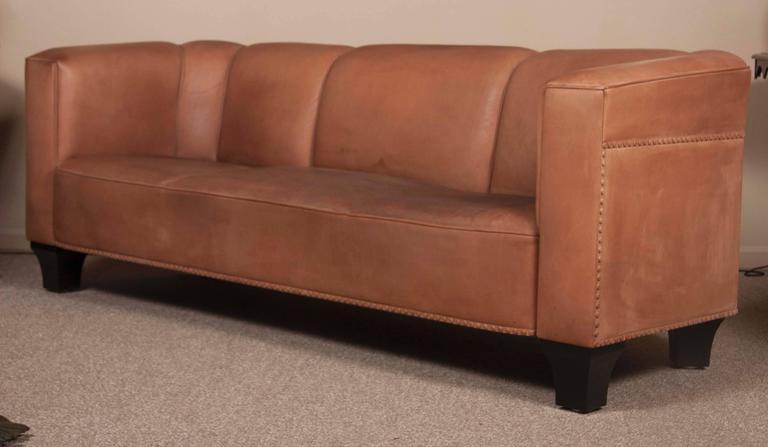 Leather Sofa by Austrian Designer Josef Hoffmann