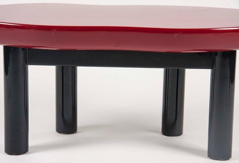 Joan Crawford Lips Lacquered Coffee Table by Jay Spectre For Sale 1