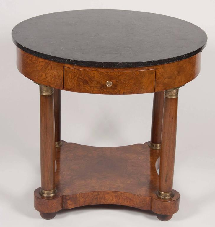 Burled Walnut Bouillotte Table For Sale At 1stdibs