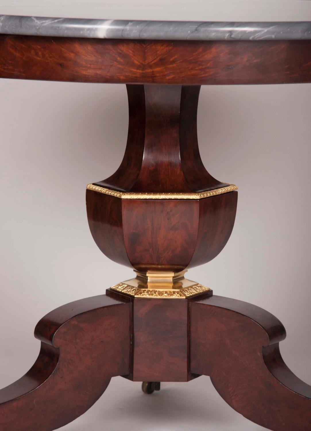 Restoration Period Mahogany Center Table For Sale At 1stdibs