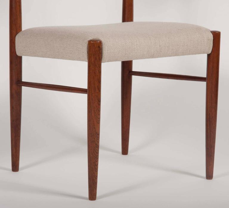 Mid-20th Century Set of Four H. W. Klein for Bramin Dining Chairs For Sale