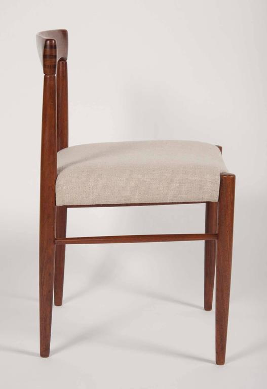 Mid-Century Modern Set of Four H. W. Klein for Bramin Dining Chairs For Sale
