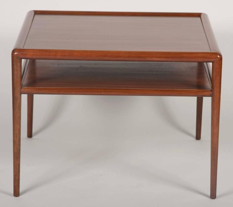 Two-Tier T.H. Robsjohn-Gibbings Walnut Side Table 3