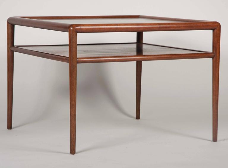Two-Tier T.H. Robsjohn-Gibbings Walnut Side Table 2