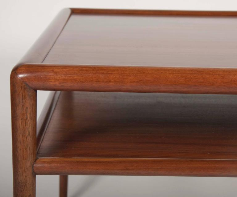 Two-Tier T.H. Robsjohn-Gibbings Walnut Side Table 4