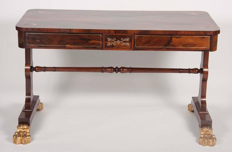 Regency Rosewood and Parcel-Gilt Library Table 5