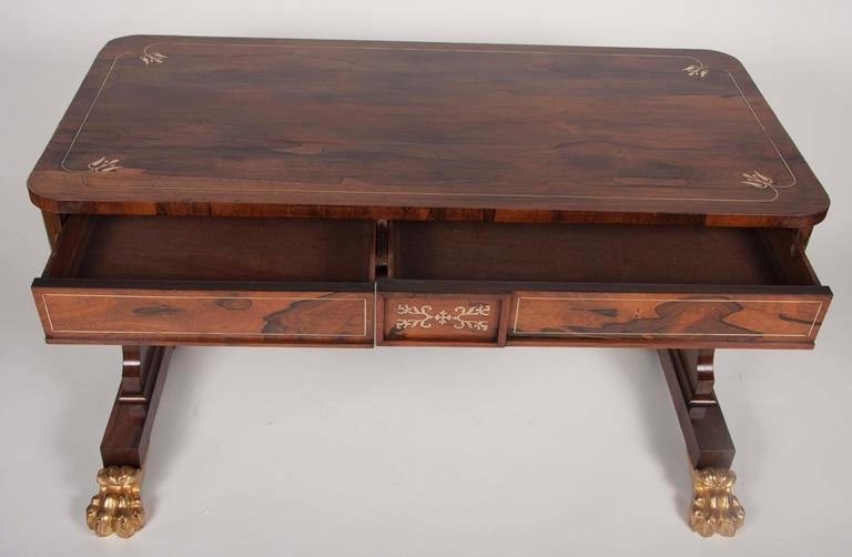 Regency Rosewood and Parcel-Gilt Library Table 3