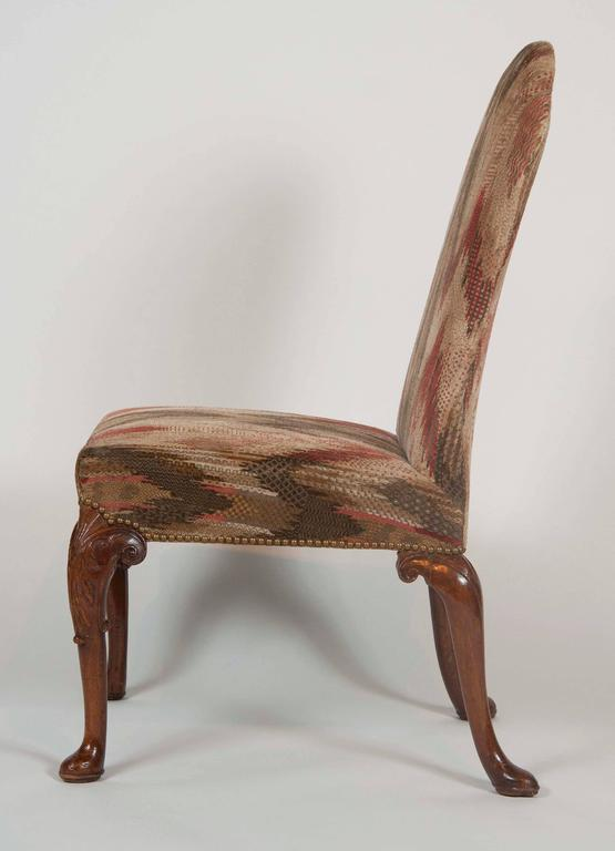 English Set of Six George II Period Dining Chairs For Sale