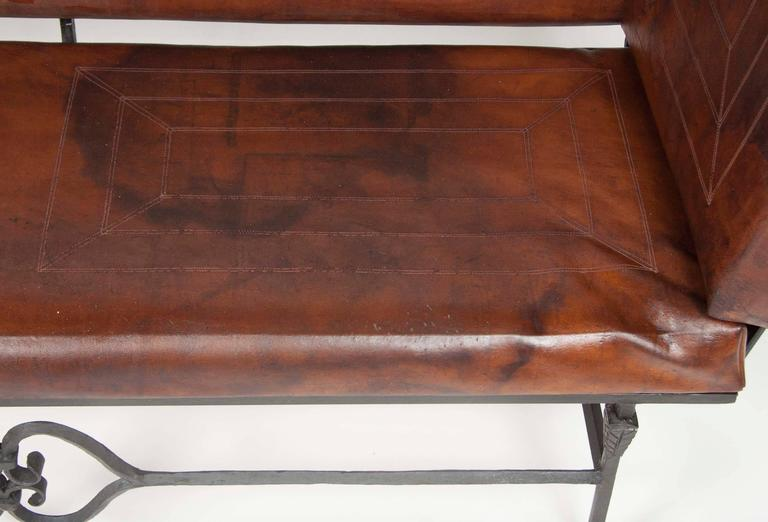 Pair of Early 20th Century Leather Knoll Form Sofa For Sale 3
