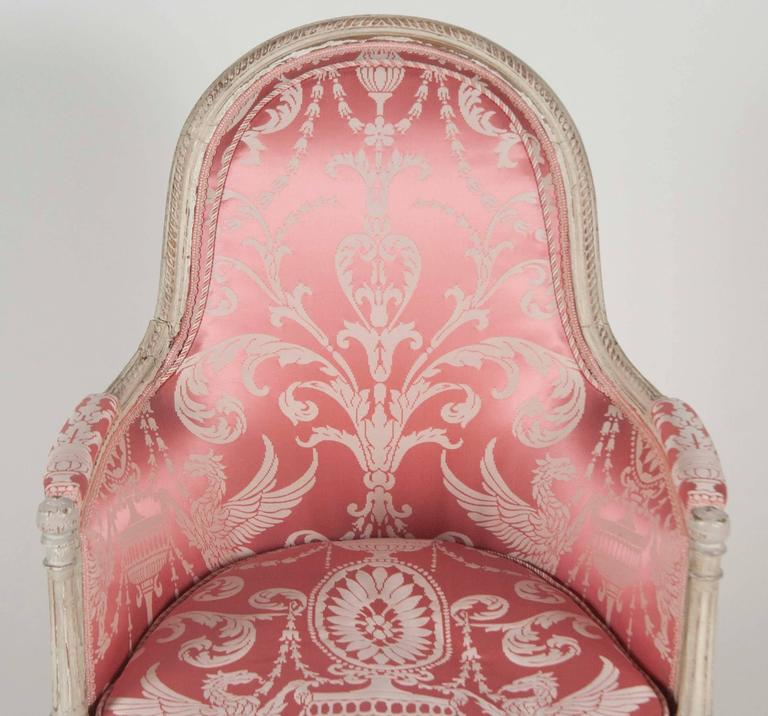 French, Louis XVI Style Bergeres or Armchairs 7