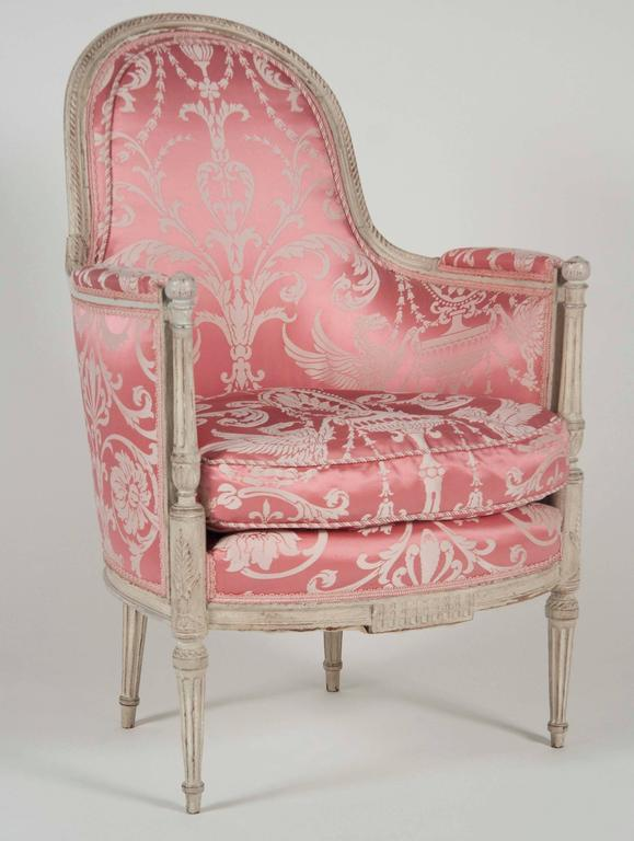 French, Louis XVI Style Bergeres or Armchairs 2