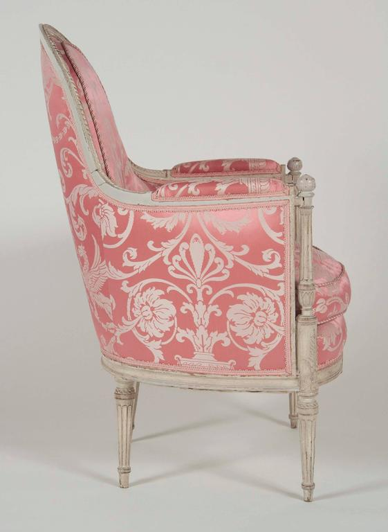 French, Louis XVI Style Bergeres or Armchairs 4