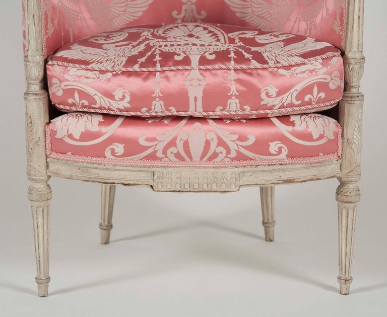 French, Louis XVI Style Bergeres or Armchairs 6