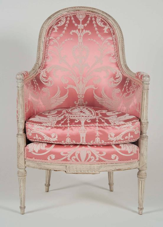 French, Louis XVI Style Bergeres or Armchairs 3