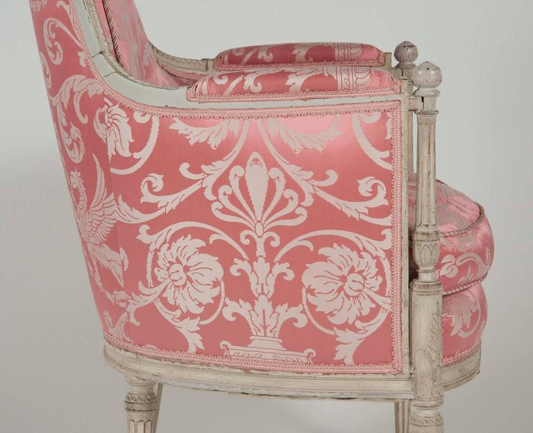 French, Louis XVI Style Bergeres or Armchairs 10