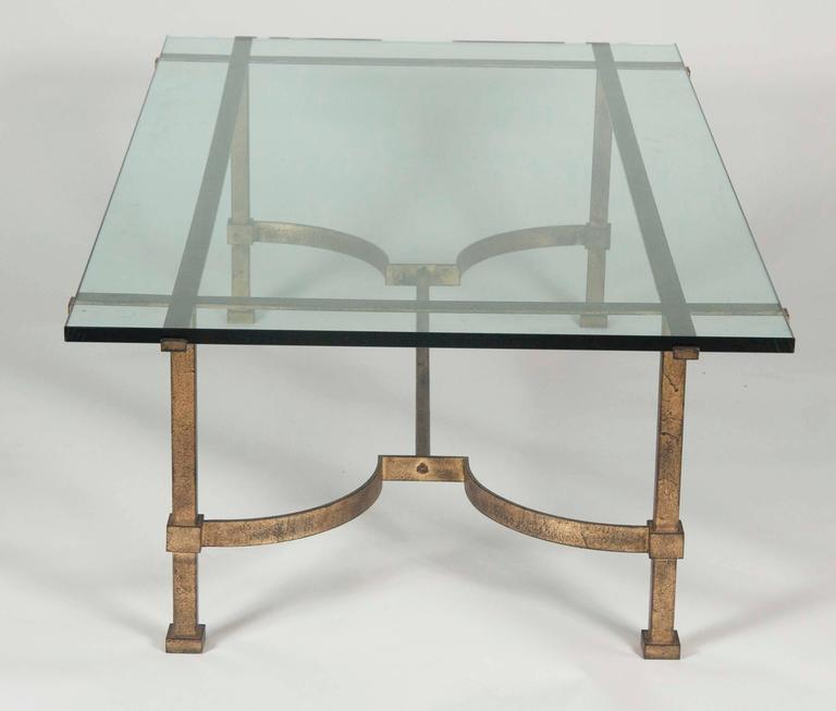 Gilt Bronze And Glass Coffee Table At 1stdibs