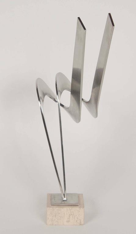 Modern Steel Sculpture by Charles Huntington For Sale
