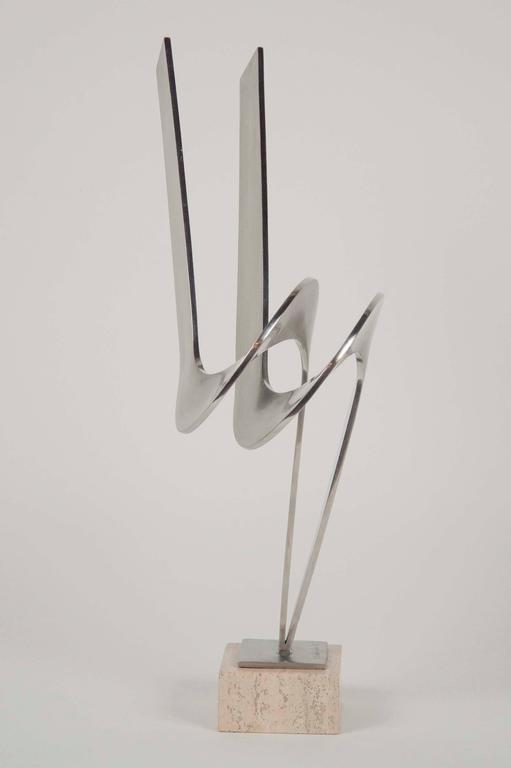 Late 20th Century Steel Sculpture by Charles Huntington For Sale