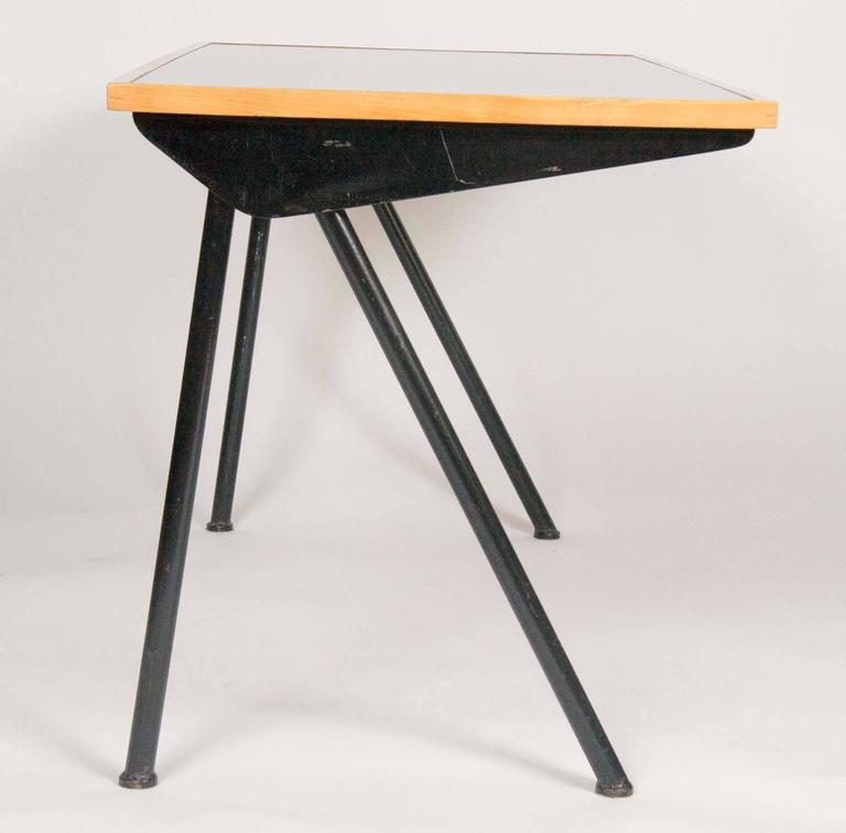 Mid-Century Modern Compass Desk by Jean Prouve For Sale