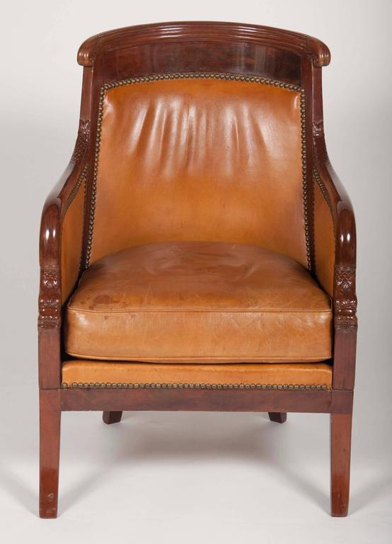 French Matched Pair of Mahogany Louis Philippe Bergères For Sale