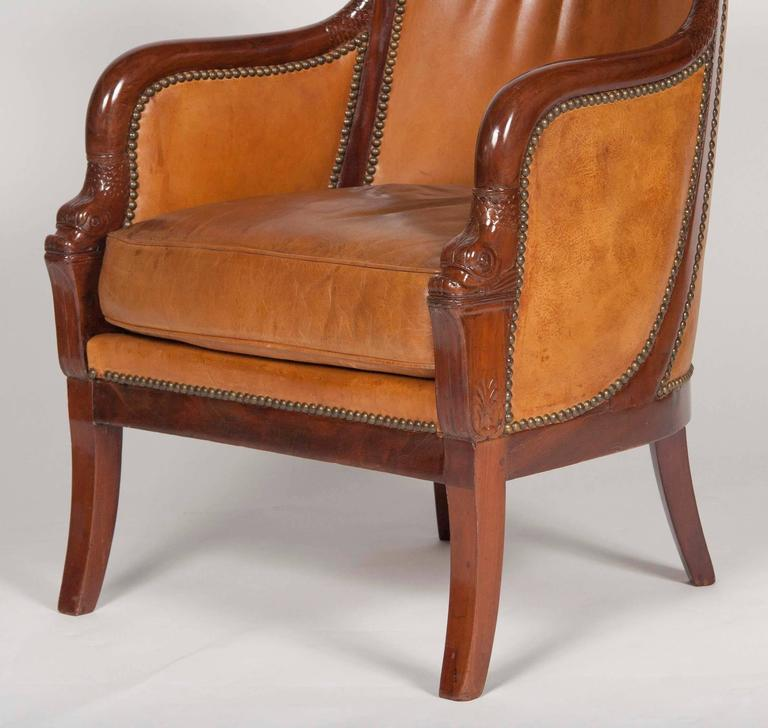 Matched Pair of Mahogany Louis Philippe Bergères For Sale 1