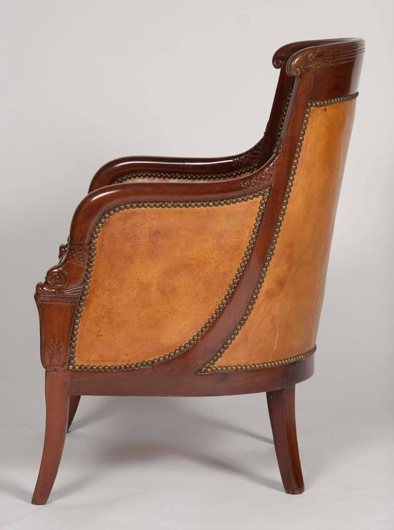 Matched Pair of Mahogany Louis Philippe Bergères For Sale 2