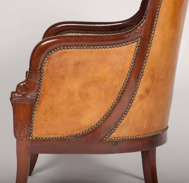 Matched Pair of Mahogany Louis Philippe Bergères For Sale 3