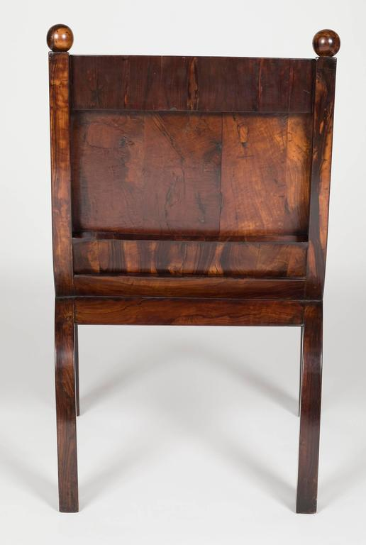 19th Century Olivewood Curule Form Armchair For Sale 3