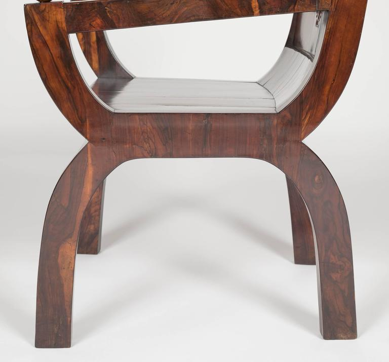 19th Century Olivewood Curule Form Armchair For Sale 6