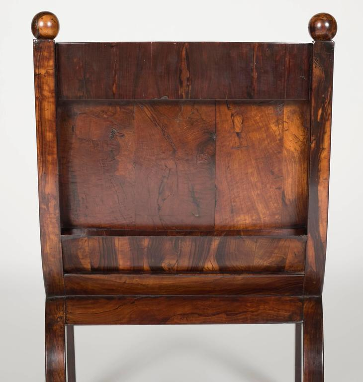 19th Century Olivewood Curule Form Armchair For Sale 4