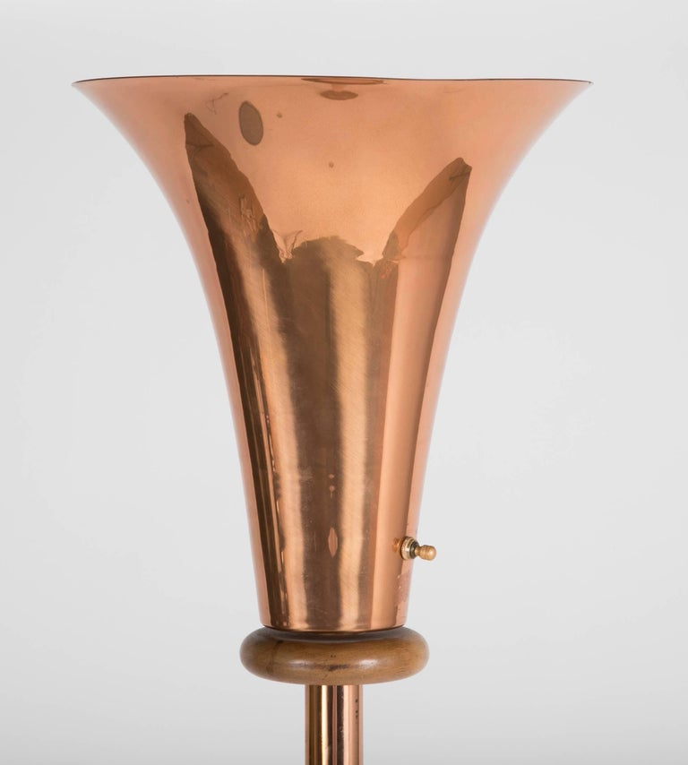 floor lamps copper frederick lamp dar