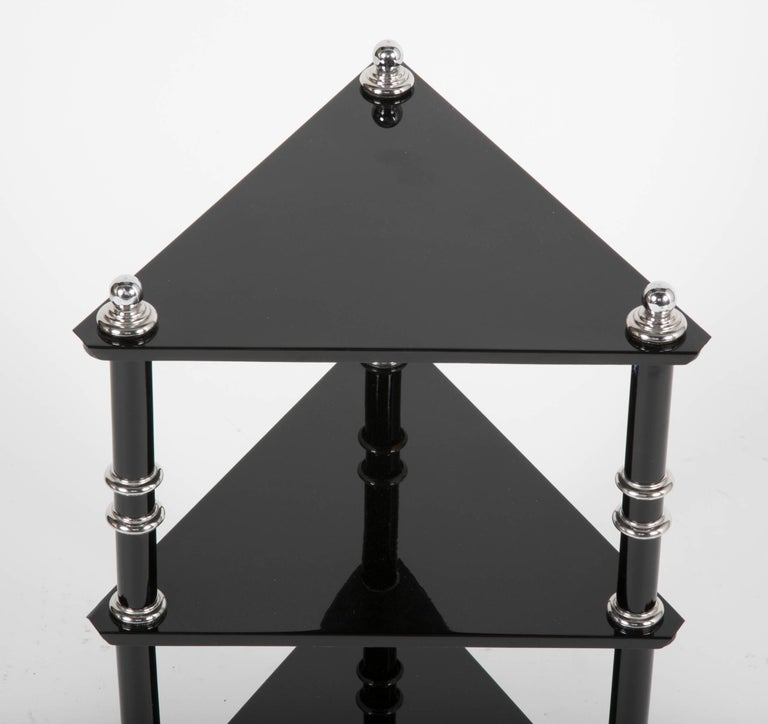 Rare Transitional Side Table/Etagere  by Warren McArthur In Good Condition For Sale In Stamford, CT