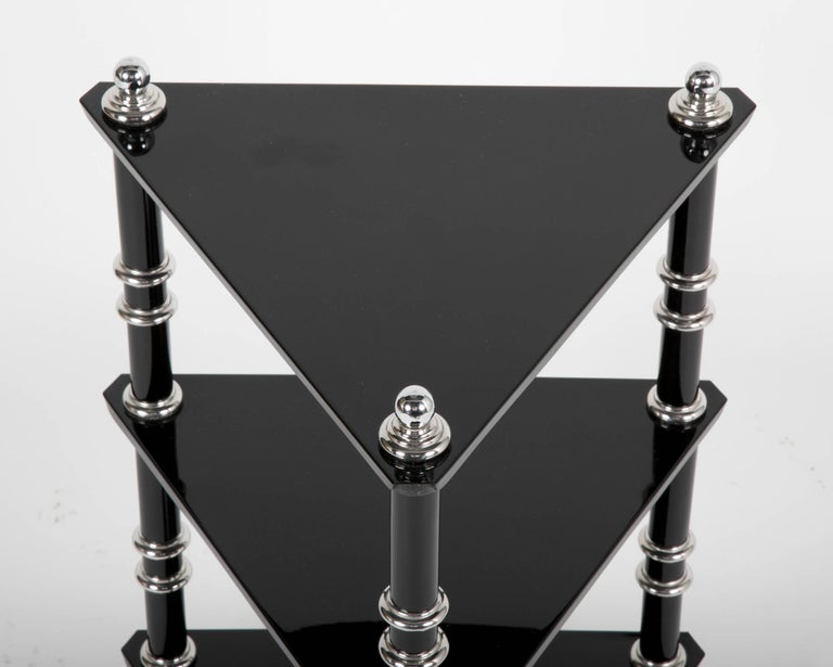 Aluminum Rare Transitional Side Table/Etagere  by Warren McArthur For Sale