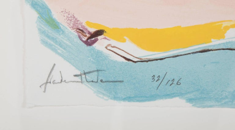 """Flirt"" Screenprint in Colors by Helen Frankenthaler 10"