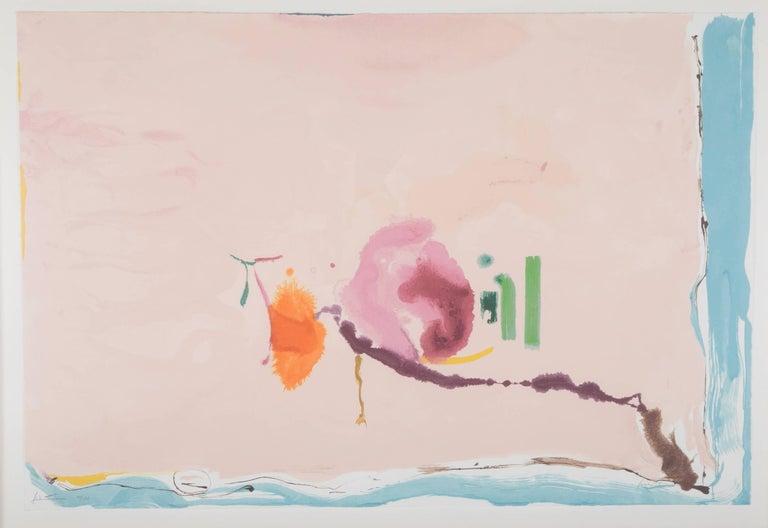 """Flirt"" Screenprint in Colors by Helen Frankenthaler 2"