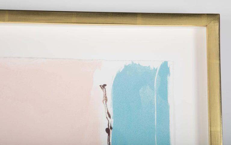 """Flirt"" Screenprint in Colors by Helen Frankenthaler 8"