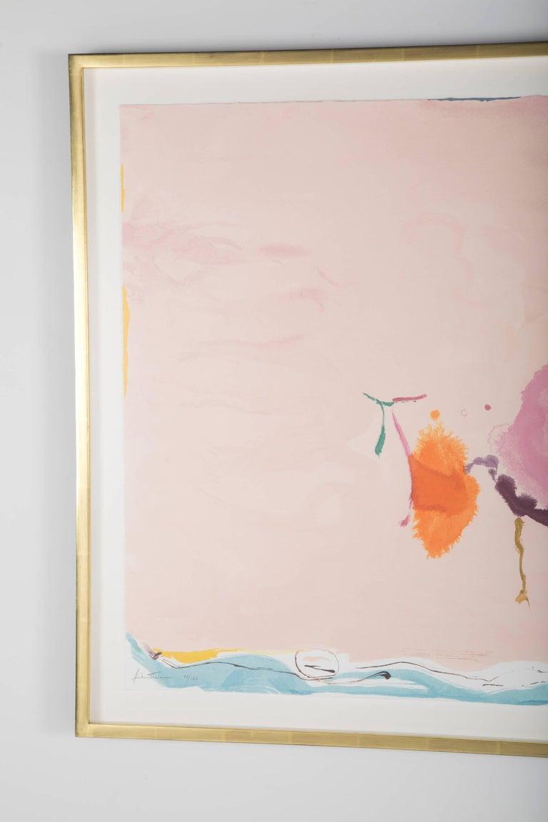 """Flirt"" Screenprint in Colors by Helen Frankenthaler 5"