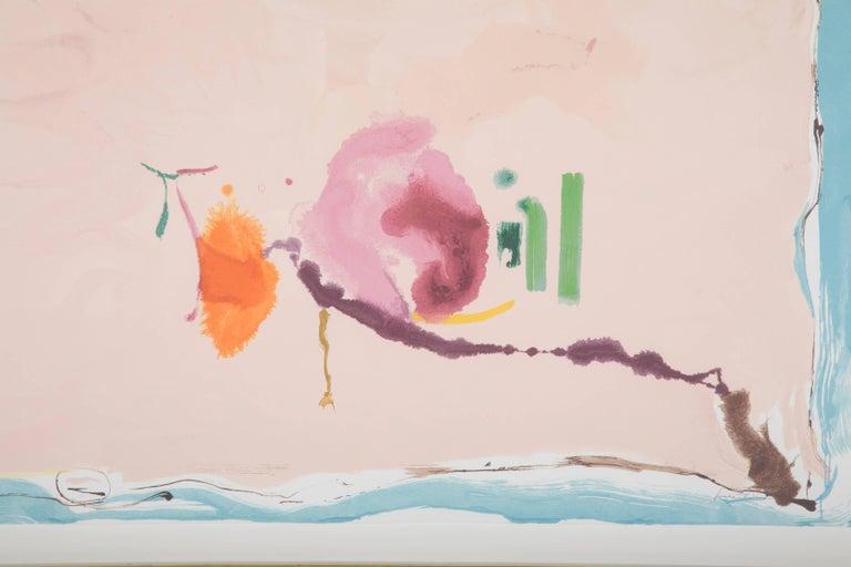 """Flirt"" Screenprint in Colors by Helen Frankenthaler 3"