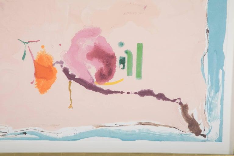 """Flirt"" Screenprint in Colors by Helen Frankenthaler 6"