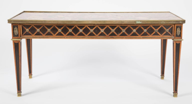 French Louis XVI Style Coffee Table by Jansen For Sale