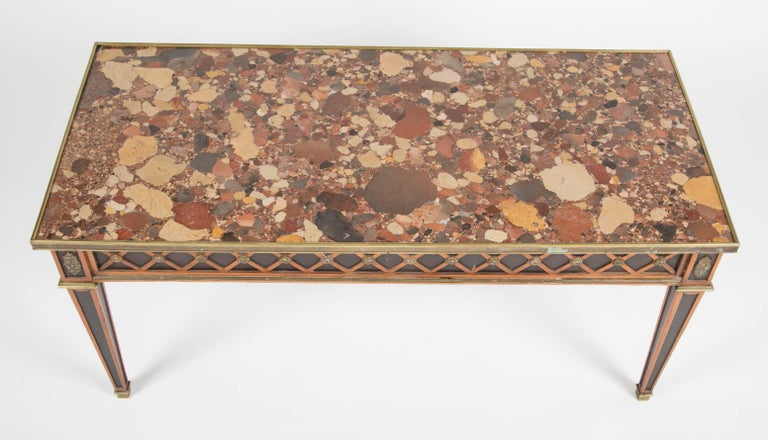 20th Century Louis XVI Style Coffee Table by Jansen For Sale