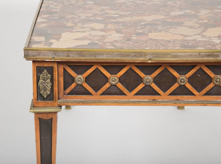 Louis XVI Style Coffee Table by Jansen For Sale 3