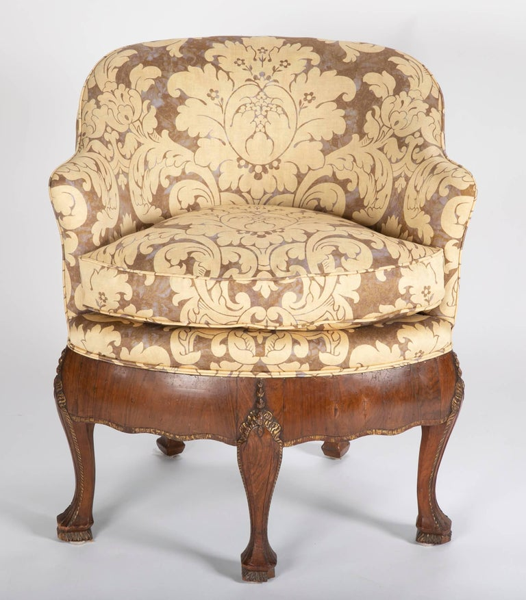 Unusual Pair of Late 19th Century Petit Armchairs In Good Condition For Sale In Stamford, CT