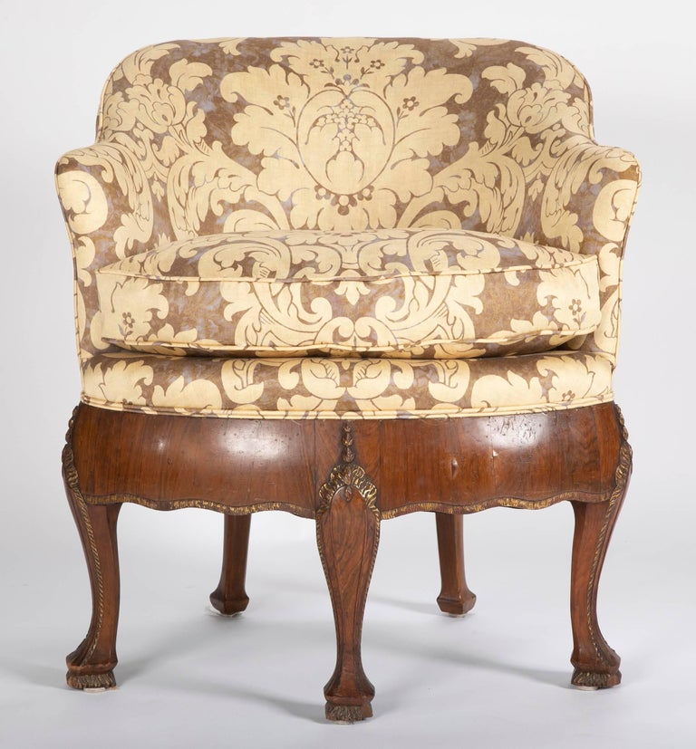 Unusual Pair of Late 19th Century Petit Armchairs For Sale 1