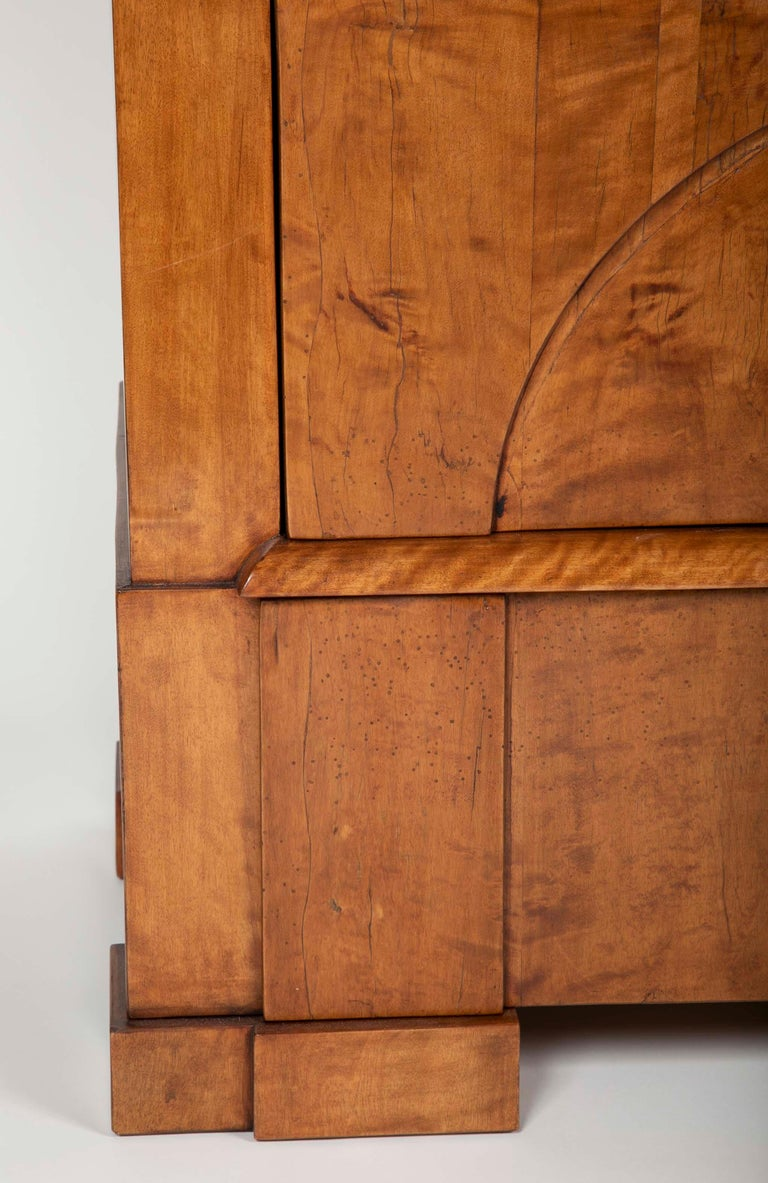 Period Biedermeier Birch Chest with Modern Appeal For Sale 1
