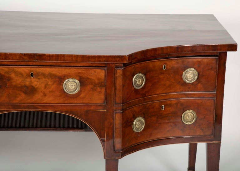 19th Century English Regency Mahogany Sideboard For Sale